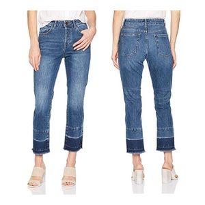 DL1961 Patti High Rise Straight Jeans in Sandbox